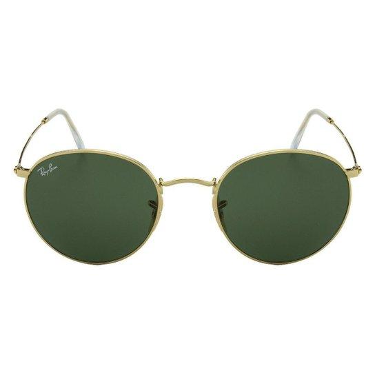 a621845f466d2 Óculos de Sol Ray-Ban Round Evolve RB3447 - 9065-V7 53 - Dourado ...