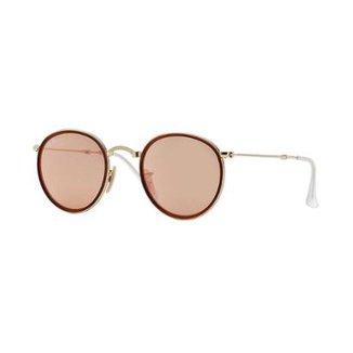 89095d1a022fc Óculos de Sol Ray-Ban Round RB3517 Dobrável