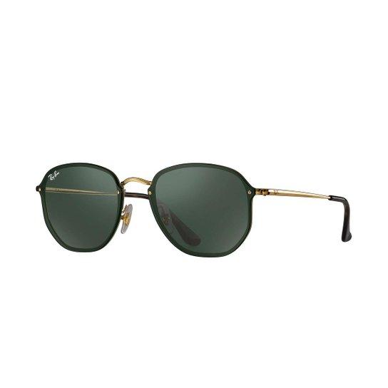 cef916b7f4ee2 Óculos de Sol Ray-Ban Blaze Hexagonal - Dourado - Compre Agora ...