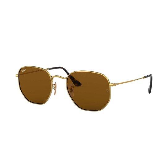 2f4f5a4cb85a3 Óculos de Sol Ray-Ban Hexagonal Feminino - Dourado - Compre Agora ...