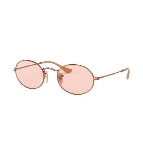 0155daa4b Óculos de Sol Ray-Ban Masculino - Dourado   Netshoes