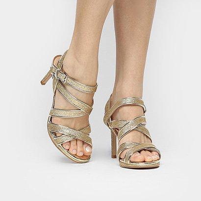 59f5cab38 ... Sandália Shoestock Festa Meia Pata Tiras Glitter. Passe o mouse para  ver o Zoom