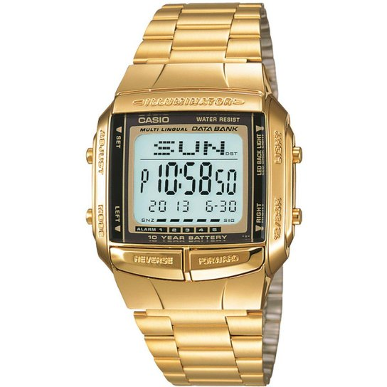 b9006cf1d5 Relógio Casio Vintage DB-360G-9A - Dourado - Compre Agora