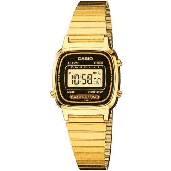 e6baca4092 Relógio Casio Vintage LA670WGA-1D - Dourado - Compre Agora
