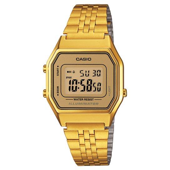 66f900fe5b Relógio Casio Vintage LA680WGA-9D - Dourado - Compre Agora