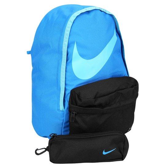 abd1219f6 Mochila Juvenil Nike Halfday BTS - Preto+Azul claro