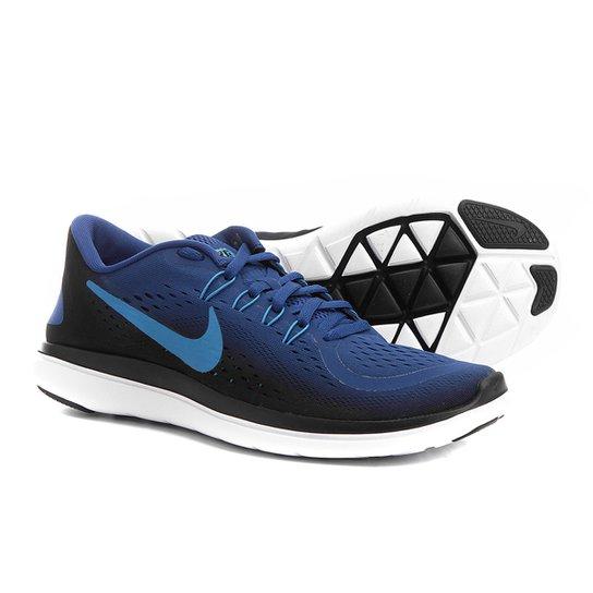 c3c5881401a Tênis Nike Flex Run Masculino - Preto e Azul claro - Compre Agora ...