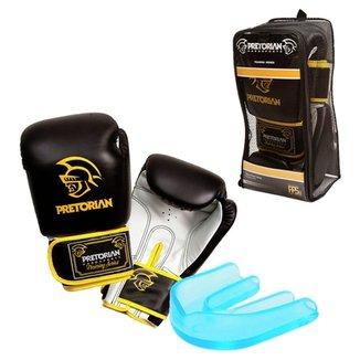 0dd7ead76 Kit Luva de Boxe Muay Thai Pretorian 12 oz + Protetor Bucal c  Estojo