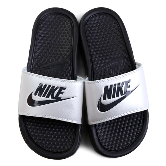 009be936655 Chinelo Nike Benassi JDI Slide Feminina - Preto e Cinza - Compre ...