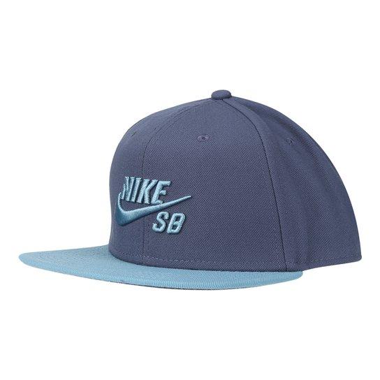 Boné Nike Aba Reta SB Icon - Azul - Compre Agora  8edd9e63fae