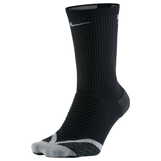 f615572f3 Meia Nike Dri-Fit Elite Running Cushion Cano Alto - Preto+Cinza