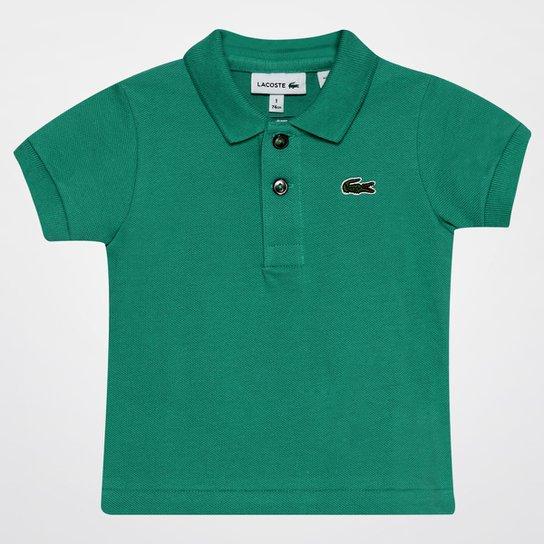 79083a08fa Camisa Polo Lacoste Piquet Infantil - Verde e Branco - Compre Agora ...