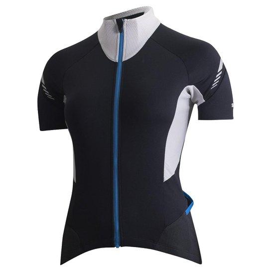 Camisa Shimano Cicle Escape Feminina - Preto e Cinza - Compre Agora ... c584bca126a