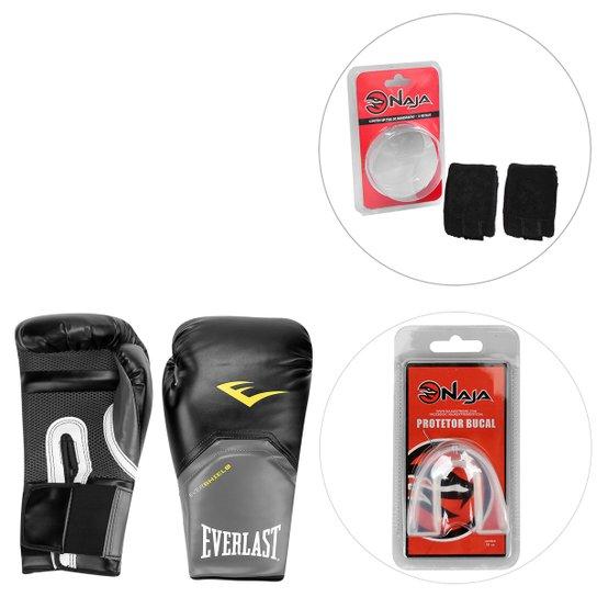 be40cb351 Kit Luva de Boxe Everlast Pro Style - 14 oz + Bandagem + Protetor Bucal Naja