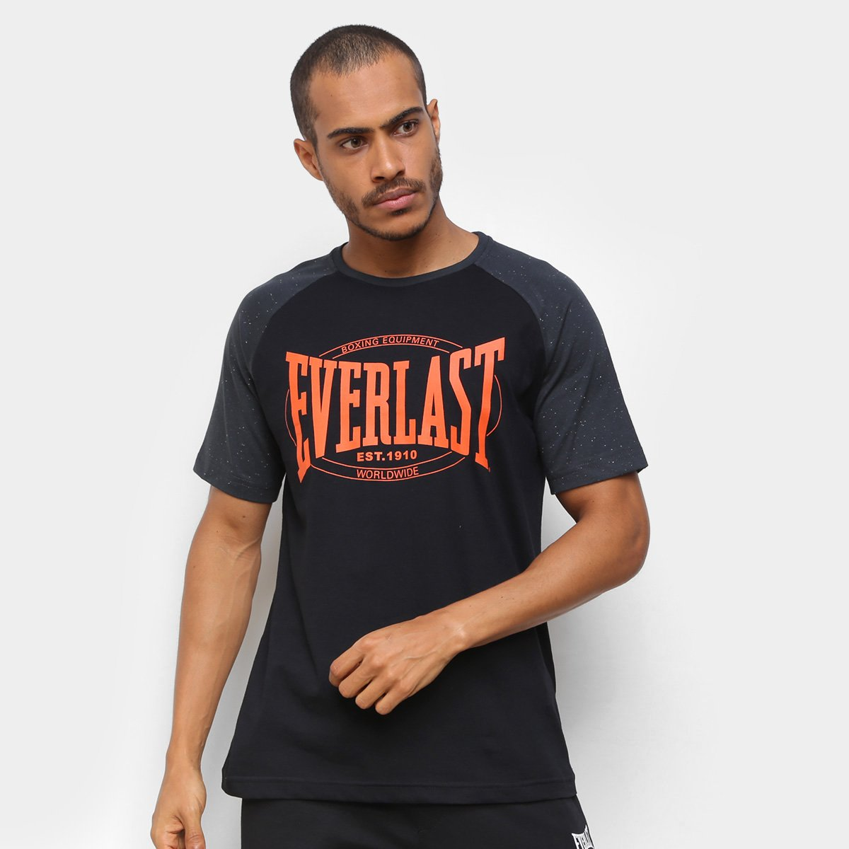 Camiseta Everlast Raglan Estampada Masculina