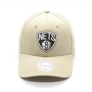 23aed19cbf1a9 Boné Mitchell   Ness Tea Log Low Pro NBA Brooklyn Nets Aba Curva