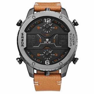 fa50d4b3502 Relógio Weide Anadigi WH6401 Preto e Cinza