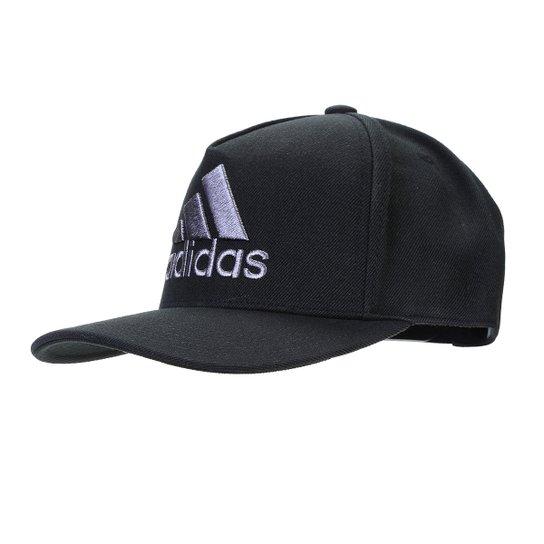 Boné Adidas Aba Curva H90 Logo - Preto e Cinza - Compre Agora  6741ee48bd3