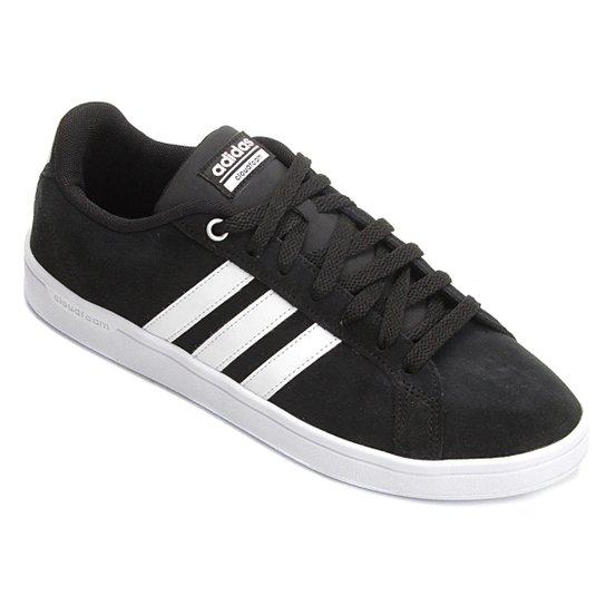 Tênis Couro Adidas Cf Advantage Masculino - Preto e Branco - Compre ... f904203f33309