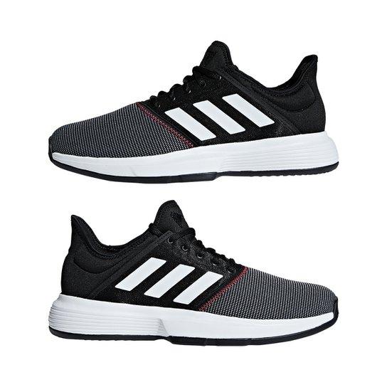 buy online dc437 30531 Tênis Adidas Gamecourt Masculino - Preto+Cinza