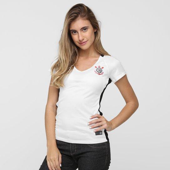 7de345209 Camisa Corinthians I 2016 s/nº Torcedor Nike Feminina - Branco+Preto