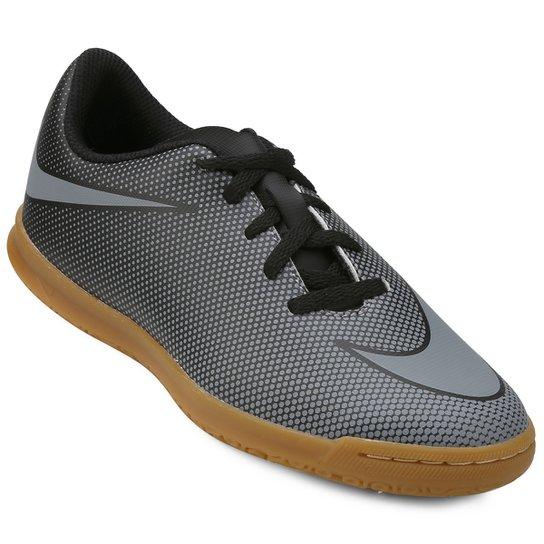 b52df5cd06 Chuteira Futsal Infantil Nike Bravata 2 IC - Preto e Cinza - Compre ...