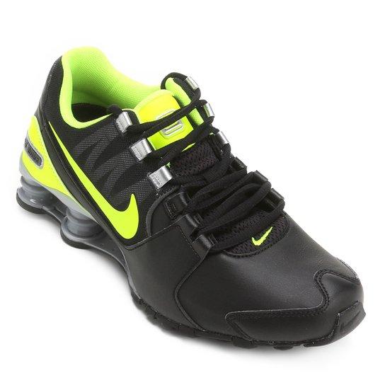 wholesale dealer 6d3dd 26b0a Tênis Couro Nike Shox Avenue LTR Masculino - Preto+verde