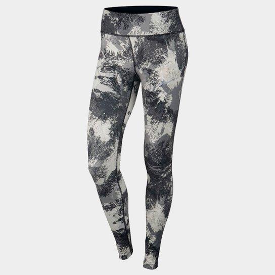 0b3cf8a30 Calça Legging Nike Power Essential Running Tight Feminina - Preto+Cinza