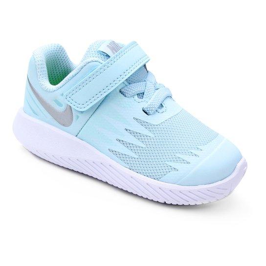 Tênis Infantil Nike Star Runner Feminino - Azul e Branco - Compre ... c1d89c692d816