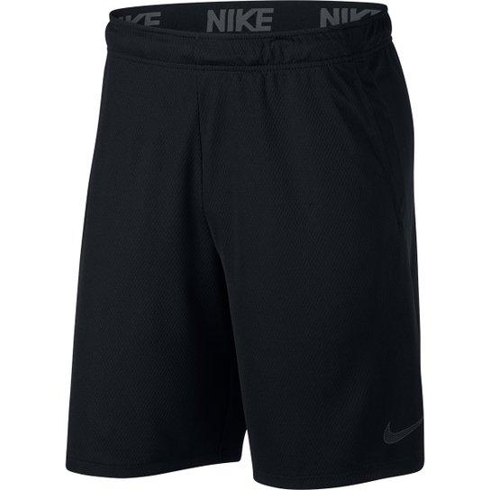 664872ab82 Bermuda Nike Dry 4.0 Masculina - Preto e Cinza - Compre Agora