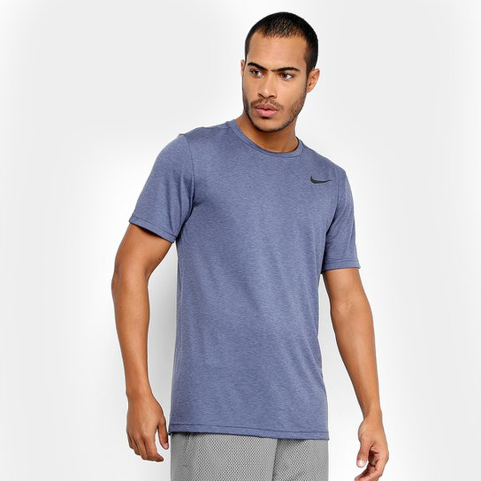 Camiseta Nike Breathe Ss Hyper Dry Masculina - Preto e Cinza ... afbb1de2b8a35