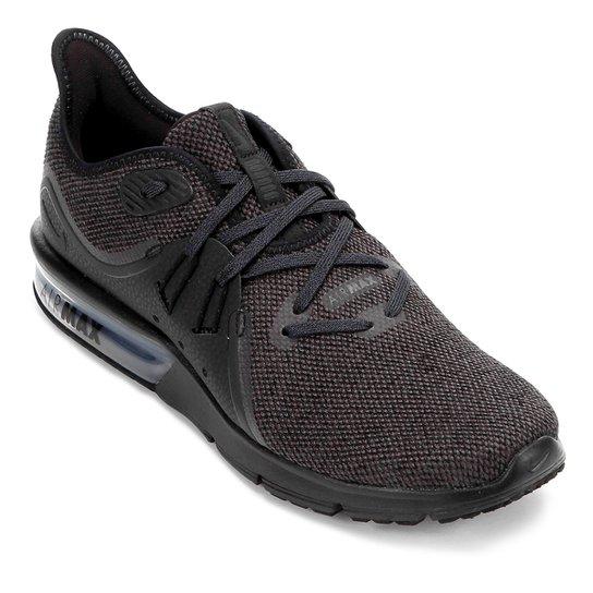 22482c95bb2 Tênis Nike Air Max Sequent 3 Masculino - Preto e Cinza - Compre ...