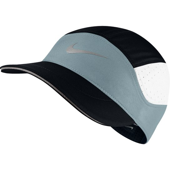Boné Nike Aba Curva Arobill TW Elite - Preto e Cinza - Compre Agora ... 743b632b75344