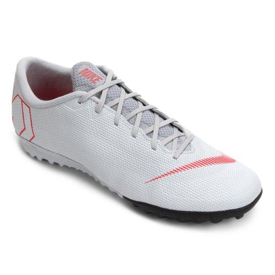 c0477a173f Chuteira Society Nike Mercurial Vapor 12 Academy - Preto e Cinza ...