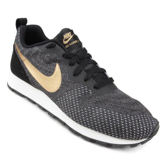 68c3d5c0a5d Tênis Nike Md Runner 2 Eng Mesh Masculino - Preto e Cinza - Compre ...