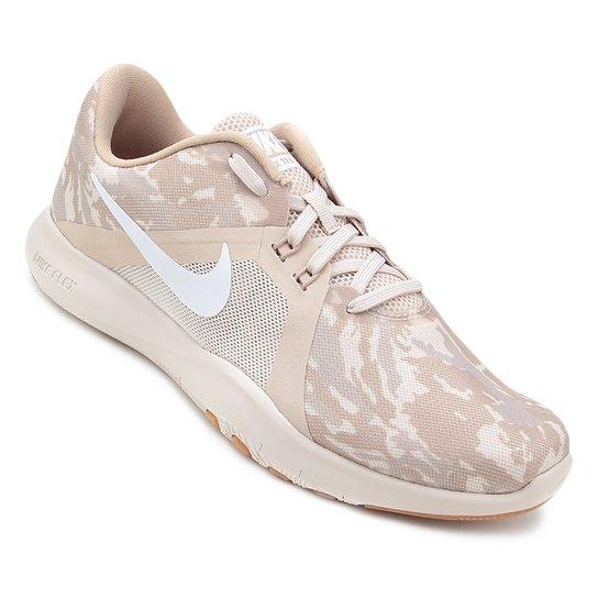 3b78674a22 Tênis Nike Flex Trainer 8 Print Feminino - Areia - Compre Agora ...