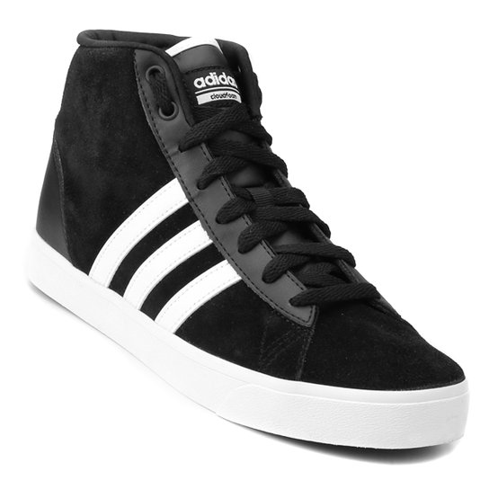 Tênis Adidas Cf Daily Qt Mid Feminino - Preto e Branco - Compre ... d4fd247ad1a9c