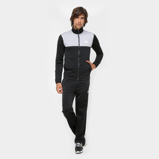 Agasalho Adidas Back 2 Basics Masculino - Preto e Cinza - Compre ... 082ca42db9bff