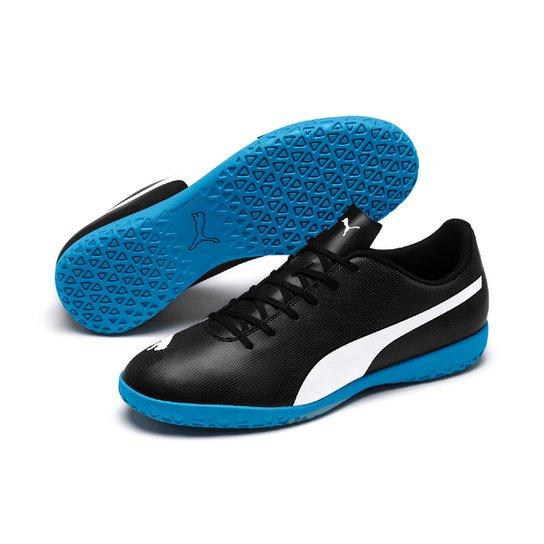 0baa02c4098d7 Chuteira Futsal Puma Rapido IT - Preto e Azul - Compre Agora