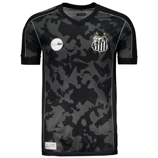 912fe7d9d9 Camisa Kappa Santos III 2017 27 B. Henrique - Compre Agora