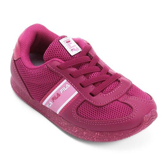 cdb4a710c7966 Tênis Infantil Fila F-Retrô - Vinho e Rosa - Compre Agora   Netshoes