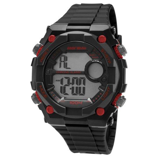 8e6be67cf91 Relógio Smartwatch Mormaii MOY15388 - Preto+Vermelho