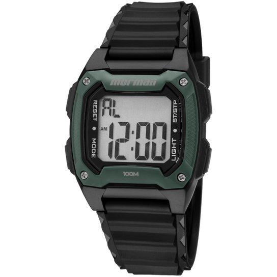 4a2ba642a Relógio Masculino Mormaii MOY15168 - Preto e verde - Compre Agora ...