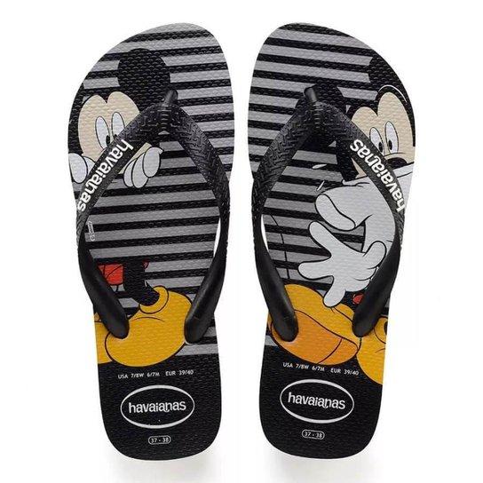 3a5321185 Chinelo Havaianas Disney Stylish Mickey - Preto+Cinza