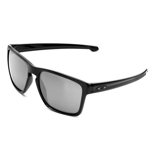 Óculos de Sol Oakley Sliver Xl Masculino - Preto e Cinza - Compre ... 4acb563780