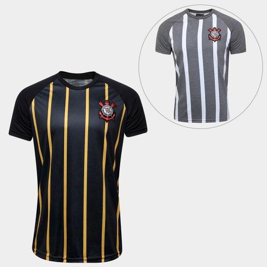 Kit Corinthians - Camisa Gold + Camisa Retrô - Compre Agora  e3a77ef9c8e16