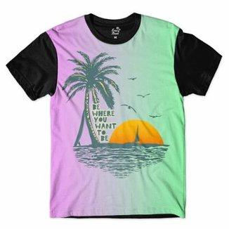 Camiseta Long Beach Aloha Surfista Sublimada Masculina 8cba9ce361e
