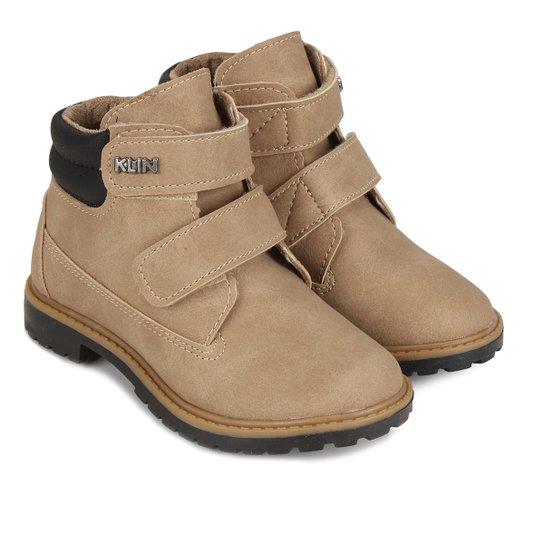 cd2847239a9 Bota Infantil Couro Coturno Klin Baby Rock Velcro Masculina - Compre ...
