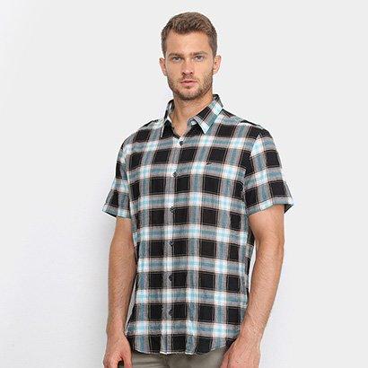 Camisa Ellus Xadrez Manga Curta Masculina