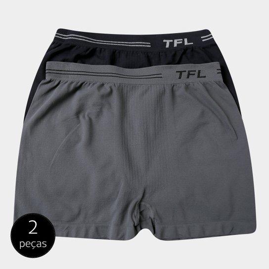 ff2e7cf64 Pack Cueca Boxer Trifil Sem Costura Microfibra 2 Peças - Preto e ...